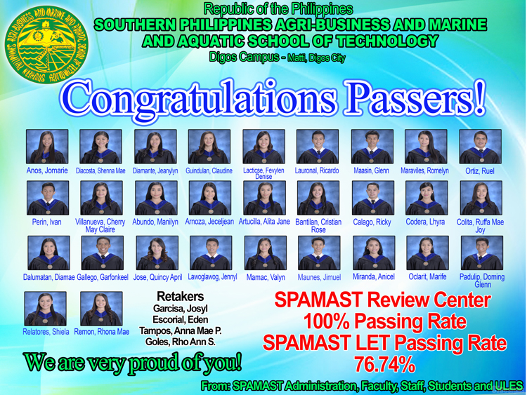 SPAMAST  Review Center 100% Passing Rate